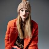 pomarańczowy płaszcz River Island - lookbook na jesień