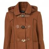 pomarańczowy płaszcz Topshop z kapturem - jesień/zima 2011/2012