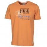 pomarańczowy t-shirt Cottonfield z nadrukiem - letnia kolekcja