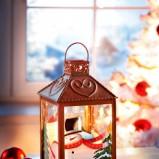Pomyslowy lampion z bałwankiem  - Boże Narodzenie