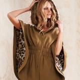 ponczo Victorias Secret w kolorze brązowym moda na zimę