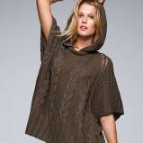 ponczo Victorias Secret w kolorze khaki  trendy na zimę