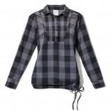 popielata bluzka House w kratkę - jesień-zima 2010/2011