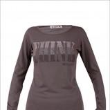 popielata bluzka Monnari z nadrukiem - moda 2011/2012