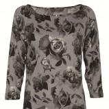 popielata bluzka Top Secret w kwiaty - zima 2011/2012