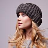 popielata czapka Borko - jesień/zima