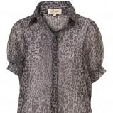 popielata koszula Topshop w panterkę - moda 2011