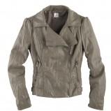 popielata kurtka Camaieu ze skóry - jesień-zima 2010/2011