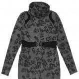 popielata sukienka Carry we wzorki - jesień/zima 2011/2012