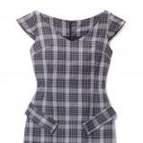 popielata sukienka Mohito w kratkę - z kolekcji jesień-zima