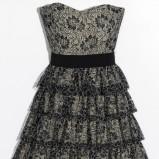 popielata sukienka Orsay z koronką - jesień/zima 2011/2012