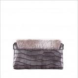 popielata torebka Monnari z wężowej skóry - trendy na jesień-zimę