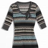 popielata tunika Orsay we wzorki - moda 2011/2012