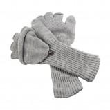 popielate rękawiczki Big Star - kolekcja jesienno-zimowa