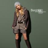 popielate szorty Bershka w kratkę - kolekcja jesienna