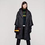 popielaty płaszcz H&M - jesień/zima