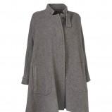 popielaty płaszcz InWear - moda jesień/zima