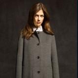 popielaty płaszcz Massimo Dutti
