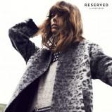 popielaty płaszcz Reserved w panterkę - jesień 2013