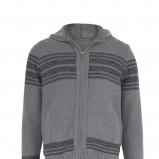 popielaty sweter Marks & Spencer z kapturem rozpinany - jesień/zima 2010/2011