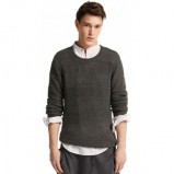 popielaty sweter Pull and Bear - wiosna/lato 2011