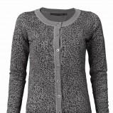 popielaty sweter Top Secret w panterkę - trendy zimowe