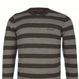 popielaty sweter Top Secret w paski - jesień/zima 2011/2012