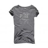 popielaty t-shirt Big Star z nadrukiem - letnia kolekcja