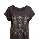 popielaty t-shirt KappAhl z nadrukiem - z kolekcji wiosna-lato 2012