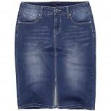 prosta jeansowa spódniczka Reserved - moda 2013