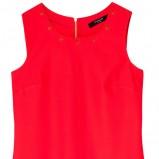 prosta sukienka Reserved w kolorze czerwonym - kreacje na studniówkę
