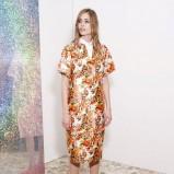prosta sukienka Stella McCartney w kwiaty - moda na wiosnę i lato 2013