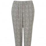 proste spodnie Topshop w kratkę w kolorze szarym - kolekcja dla kobiet 2012/13