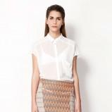 prześwitująca koszula Bershka w kolorze białym - trendy 2013