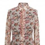 prześwitująca koszula Pretty One w kwiaty - koszule na jesień i zimę 2012/13