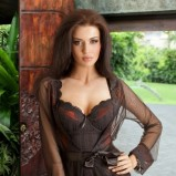 prześwitujące szlafrok Lupoline w kolorze brązowym - kolekcja nocna dla kobiet