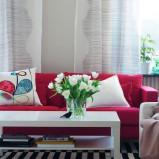 Przytulne meble salon IKEA  -inspiracje 2013