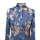 rewelacyjna koszula Pretty One w kwiaty w kolorze niebieskim - moda damska 2012/13