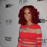 Rihanna, czerwone loki, New Year's Eve 2011