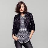 rockowa ramoneska H&M w kolorze czarnym - kolekcja płaszczy na wiosnę 2013