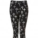 rockowe legginsy Topshop w kolorze czarnym - kolekcja dla kobiet 2012/13