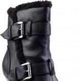 rockowe na platformie i wysokim obcasie botki CCC w kolorze czarnym  - kolekcja damska 2012/ 2013
