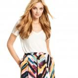 rozkloszowana kolorowa spódnica H&M - spódniczki na jesień i zimę