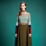 rozkloszowana spódnica Gucci w kolorze khaki - trendy 2013/14