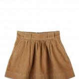 rozkloszowana spódnica Levis w kolorze brązowym - spódniczki na jesień i zimę