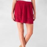 rozkloszowana spódnica Stradivarius w kolorze czerwonym - jesień i zima 1012/13