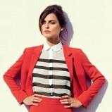 rozkloszowana spódniczka F&F w kolorze czerwonym - moda na wiosnę i lato 2013