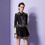rozkloszowana spódniczka Moschino w kolorze czarnym - moda 2013/2014