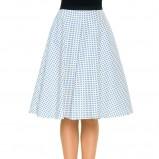 rozkloszowana spódniczka Simple w kolorze błękitnym - wiosna i lato 2013