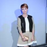 rozkloszowana spódniczka w kolorze beżowym - Katarzyna Zielińska